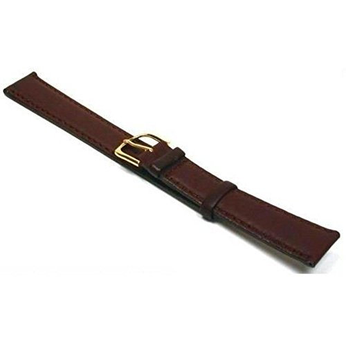 Watch Band Padded Leather Calf Brown Long Part 18mm