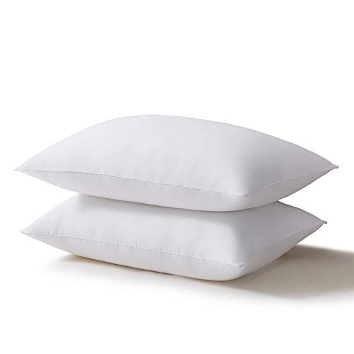 Acanva Bed Pillows for Sleeping 2 Pack, Alternative Microfiber Filled, Natural Cover Skin-Friendly, Soft and Supportive…