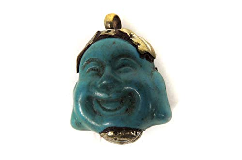Tibetan Silver Buddha Turquoise Pendant