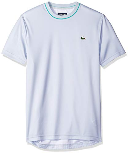 Lacoste Mens Allover Back Print Short Sleeve Ultra Dry Tee
