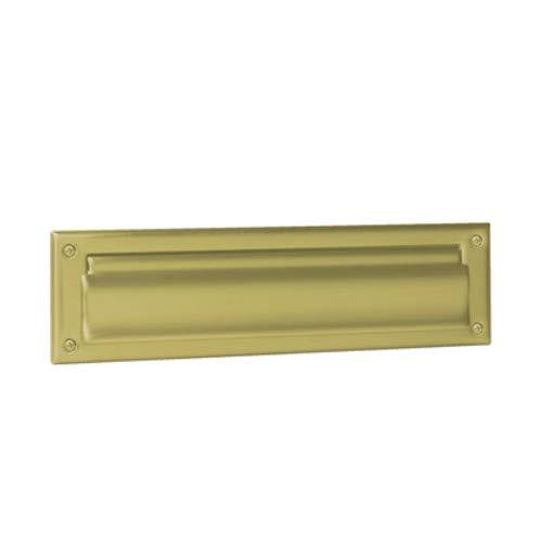 Brass Mail Slot - Schlage 620 13-Inch x 3-9/16-Inch Solid Brass Mail Slot, Antique Brass