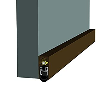 Dark Bronze/Heavy Duty/Fire Rated/Surface Automatic Door Bottom with Double Jacket Solid Rubber Extrusion (7763DB), SMS #8 x 1-1/2'' Supplied, (29/32'' W x 1-29/32'' H x 30'' L)