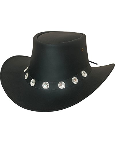 Bullhide Women's Good Things Leather Western Hat Black Large