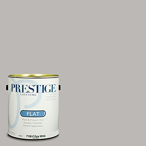 Prestige Paints Interior Paint And Primer In One  1 Gallon  Flat   Comparable Match Of Sherwin Williams Essential Gray