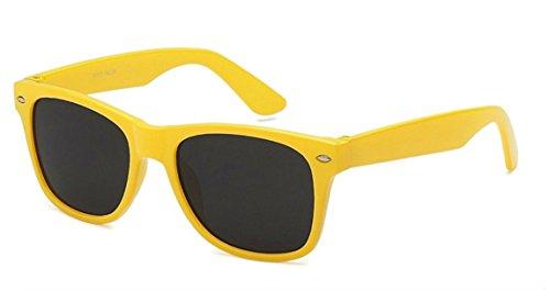 Big Kids Boys Girls 45mm Neon Wayfarer Ages 6 - 12 (Yellow, - Kids Yellow Sunglasses