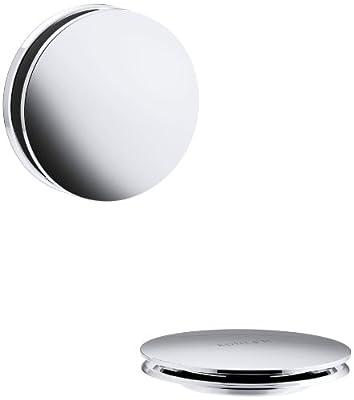 KOHLER K-T37395-CP PureFlo Cable Bath Drain Trim with Contemporary Push Button Handle, Polished Chrome