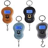 Bowee Digitale Hängewaage portable electronic scale Waage Elektronische Hängewaage Taschenwaage LCD bis 40 kg(Farbe: schwarz, silber, blau, orange ausgewähltbar)