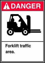 Forklift Traffic Sign, 10 x 7In, ENG, SURF by Accuform Signs