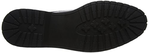 Scarpe Chunky New Uomo Nero Stringate Sole Look Derby Leather Black wErAqIE