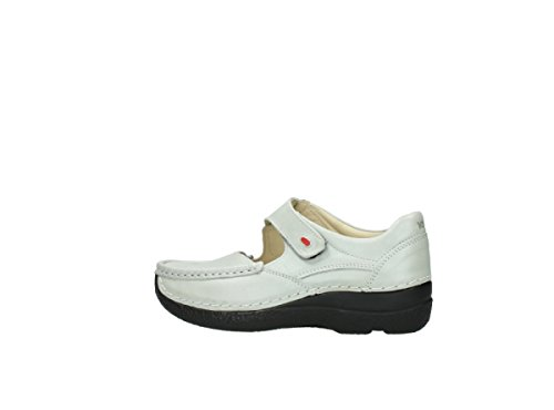 metallic 80120 offwhite leather Wolky Comfort Janes Fever Roll Mary mottled XX0xwSnR
