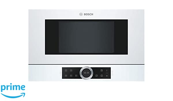Bosch BFL634GW1 Integrado 21L 900W Blanco - Microondas (Integrado, 21 L, 900 W, Tocar, Blanco, Abajo): Amazon.es: Hogar