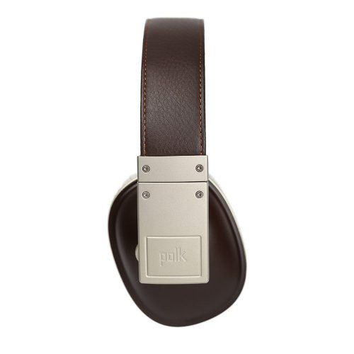 Polk Audio Buckle Headphones - Brown/Gold - with 3 button control and microphone Photo #3