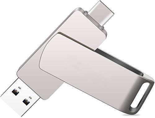 USB C Flash Drive 32 GB 2 in 1 USB 3.0 + USB Type C Disk,Dual OTG Thumb Drive USB Memory Stick for Samsung, Huawei, MacBook, Chromebook Pixel etc.