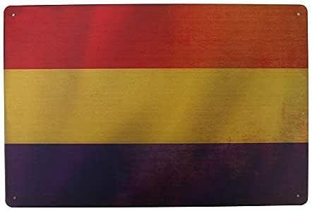 MARQUISE & LOREAN Placas Decorativas Pared Bandera Republicana Decoración Carteles Vintage Metálicos MIRA Aquí: Amazon.es: Hogar