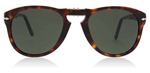 (Persol Mens Sunglasses Tortoise/Green Acetate - Non-Polarized - 52mm)