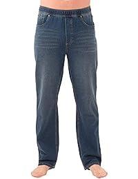 Mens Jeans Stretch Denim - Men Elastic Waist Pants