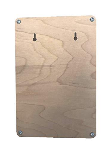 Schl/üsselbrett aus Birkenholz 30x20cm hochwertig verarbeitet