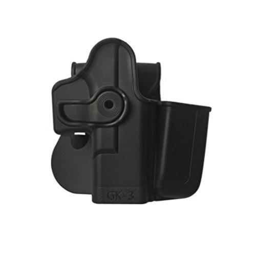 IMI RSR Hand Gun GK3 Polymer Holster + Integrated Mag Pouch Black Glock 17/22/31/19/23/32/36]()
