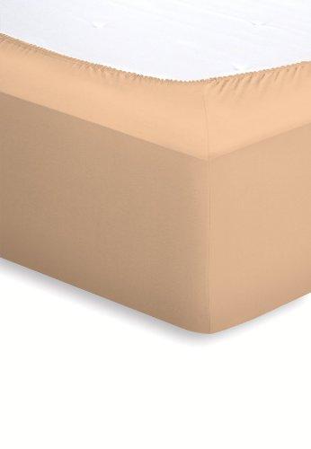 Schlafgut Elasthan-Jersey Spannbetttuch//von 90 x 190 bis 100 x 220 cm//beige 18501-00000617-012-700