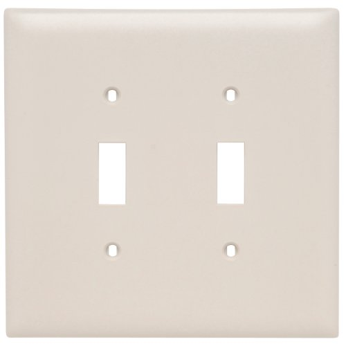 - Legrand - Pass & Seymour TPJ2LA Trade Master Jumbo Wall Plate with Two Toggle Switch Openings, Two Gang, Light Almond