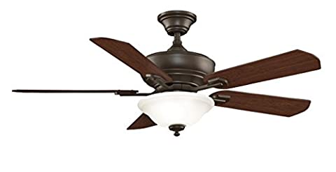 Fanimation Camhaven - 52 inch - Oil-Rubbed Bronze with Cherry/Walnut Reversible Blades with Light Kit and Remote - - Fanimation Oil