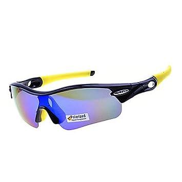 9dda7c4c7b Procesamiento de dos días -Revo Lentes Negro Hombre y marco amarillo  polarizadas Gafas de deporte