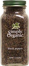 Simply Organic Black Pepper ( 1x2.31 OZ) Simply Organic Organic Ground