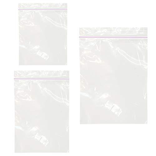 300 PCS Small Zipper Poly Bags – 2 Mil Reclosable Clear Ziplock Plastic Bags Sizes 1.3″ X 1.7″, 1.5″ X 2.3″, 2″ X 2.7″ for Vitamins, Pills, Small Items