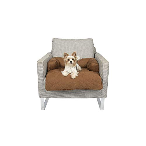 PetSafe Solvit Bolstered Pet Furniture Protector, Medium, Waterproof Couch and Chair Cover for Dogs and Cats
