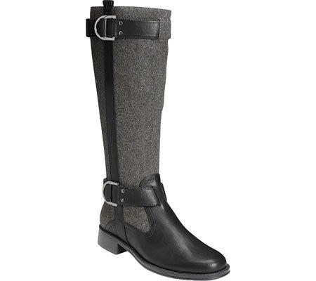 Aerosoles Women's Ride Line Riding Boot,Grey Wool,5.5 M US