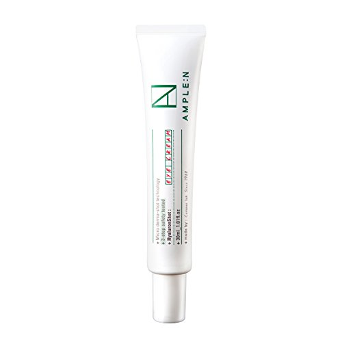 [AMPLE:N] Hyaluron Shot Eye Cream 1.01 fl. oz. (30ml) - Xylitol Complex and Ceramide Contained Moisturizing & Rich Nourishing Eye Cream, Smooth Skin Texture