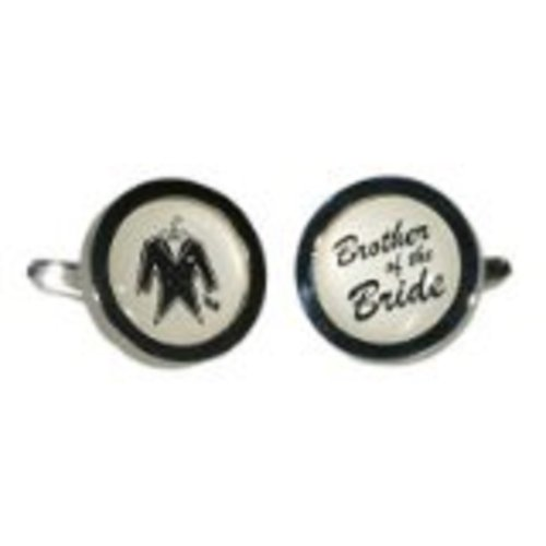 Gtr Men's Cufflinks Brother Of The Bride Round Ivory X2Hmtux006 One Size