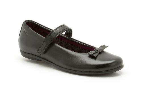 Clarks Daisy Meadow schwarz Kinder Schule Schuhe Schwarz