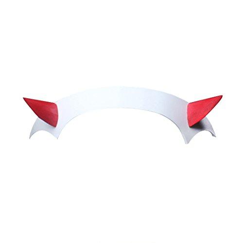 C-ZOFEK Zero Two Cosplay Headband Wig DARLING in the FRANXX 002 Pink Hair (Headband)