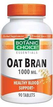 Botanic Choice Oat Bran 1000 mg Herbal Supplement Tablets