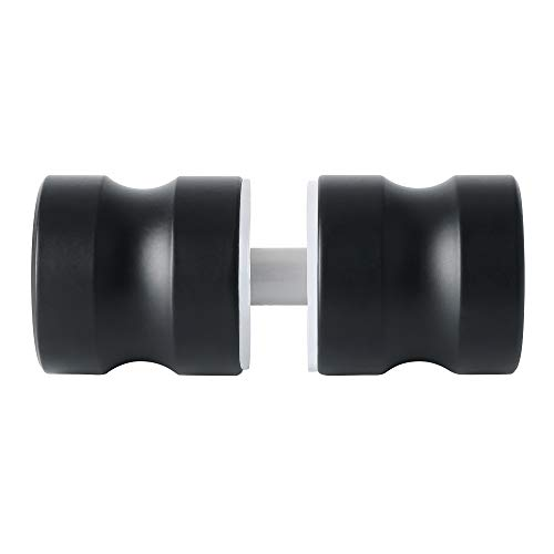 Alise L5000-B Solid SUS304 Stainless Steel Bathroom Knob Round Back-to-Back Shower Glass Door Handle Pull 1-1/5 Inch by 1-1/5 Inch,Matte Black