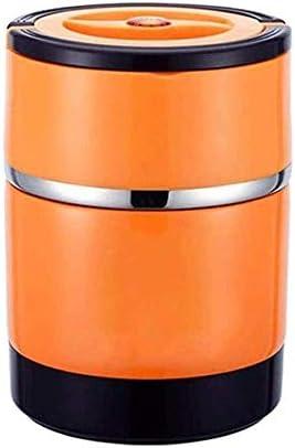1.5L断熱バレル、学生保温弁当箱ランチボックス、大人熱いお粥バケット保温バケットシチュービーカー YANGBM (Color : オレンジ)