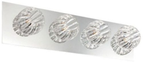 - Eurofase 23205-031 Cosmo 4-Light Bathbar Bathroom Light, Chrome