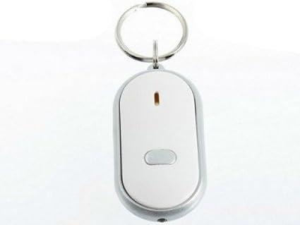 Localizador sonoro-Llavero silbador encuentra llaves: Amazon ...