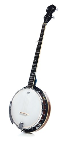 5 String Resonator Banjo with 24 Brackets | Closed Back and Geared 5th Tuner | Resoluute ()
