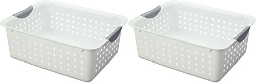 Sterilite #16248006 Medium White Ultra Basket, 2 Pack