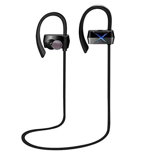 NXDA Sports Wireless Headset Ear Design Bluetooth 4.2 HD Stereo Mobile Phone Headset car Bluetooth Headset (Blue)