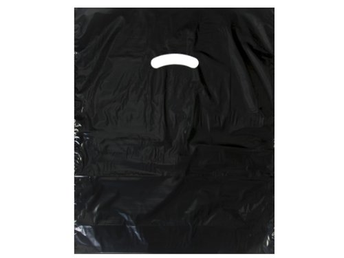 Black Super Gloss Bags 12x15'' Recycled Plastic Bags 1.25 mil (Unit Pack - 1000)