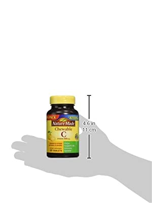 Nature Made - Vitamin C 500 mg, 120 Chewable Tablets (Twin Pack 2 x 60)