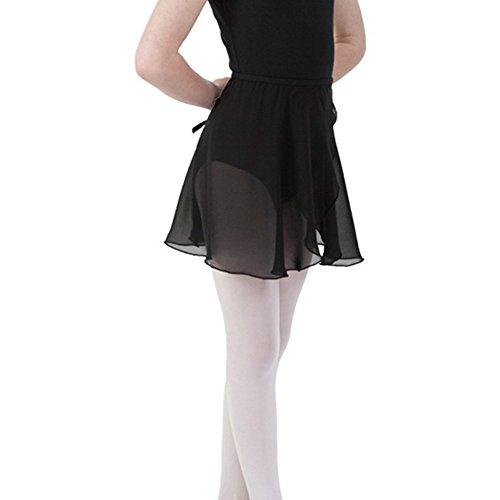 Sportingbodybuilding Ballet Wrap Skirt Chiffon Dance Skirt for Women & Girls(Black/Medium) (Black Wrap Ballet)