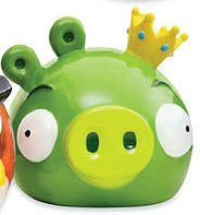 Collectors Very Hard to Find Creamic Angry Birds King Pig Coin Piggy Bank Sold Out and Retired by MZ Berger