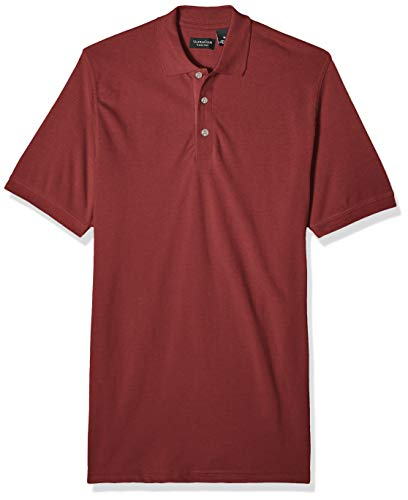 Clementine Men's ULTC-8535-Classic Piqué Polo, Cardinal Large