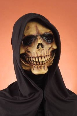 Forum Novelties 59886 Hooded Reaper Mask (Skeleton Halloween Mask)