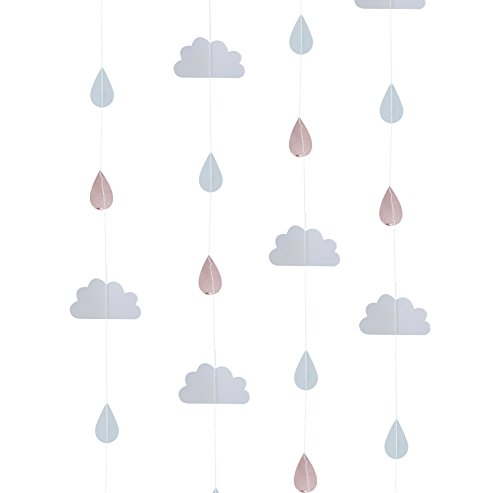Rays Hanging - Ginger Ray Rose Gold & Clouds Backdrop Hanging Decoration Garland for Baby Showers - Hello World