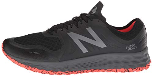 New Balance Men's Kaymin V1 Fresh Foam Trail Running Shoe, Black/Flame/Reflective, 7 D US by New Balance (Image #5)